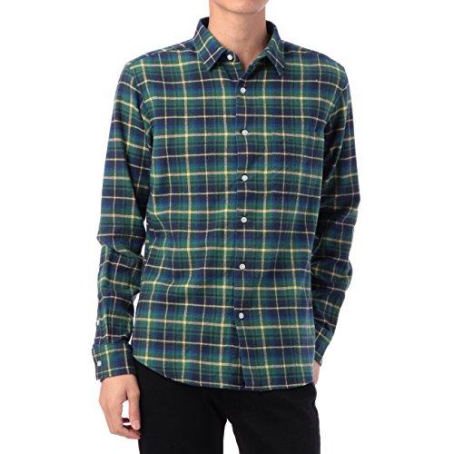 (ボイコット)BOYCOTT チェックカジュアルネルシャツ ネイビー(293) 03(L)