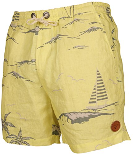Billabong, Pantaloni corti Uomo Lino, Giallo (Dust Yellow), M
