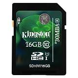 Kingston 16GB Class 10 SD SDHC Memory Card For Sony Cybershot DSC-W730 Camera