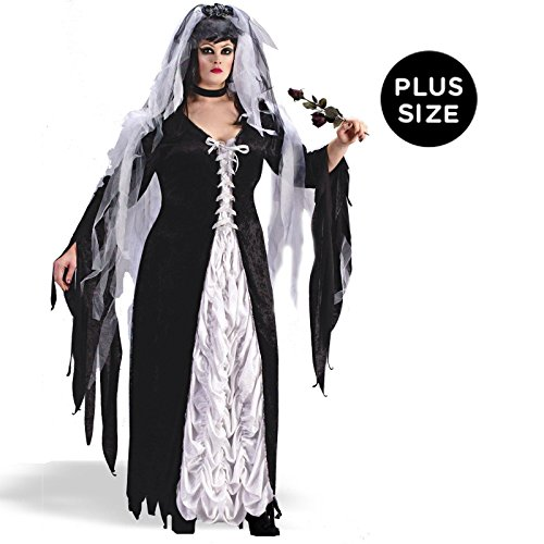 Coffin Bride Adult Plus Costume - Plus