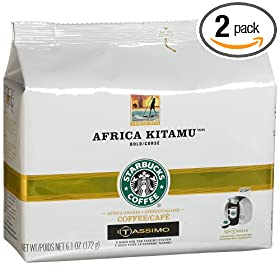 Starbucks Africa Kitamu, T-Discs for Tassimo System, 6.1-Ounce Packages (Pack of 2)