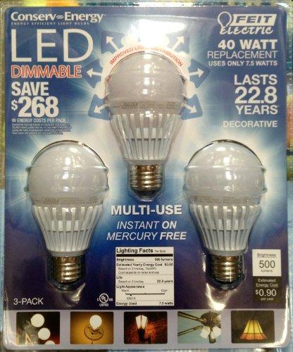 Feit Electric Led 40 Watt Replacement Bulbs (3 Pack)