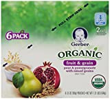 Gerber 2nd Foods Organic Pouch, Pear Pomegranate Mixed Grain, 3.5 Ounce (Pack of 12)