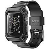 Apple Watch Case, SUPCASE [Unicorn Beetle Pro] Rugged Protective Case with Strap Bands for Apple Watch / Watch Sport / Watch Edition 2015 [42mm, Not Compatible with 38 mm] (Black) Reviews