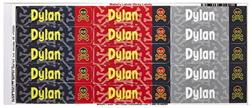Mabel'S Labels 40845028 Peel And Stick Personalized Labels With The Name Dylan And Skull Icon, 45-Count front-945830