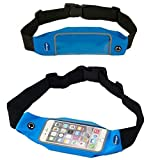 Waist Belt Bag Case fits iphone 6 Plus , galaxy Note Edge , Note 4 ,Galaxy Note 5 , Note 3 , S5 , S6 Edge ,LG G3 Vigor , G4 , Nancy's Shop Running Belt and Sport Exercise Gym belt Waist Packs Bag