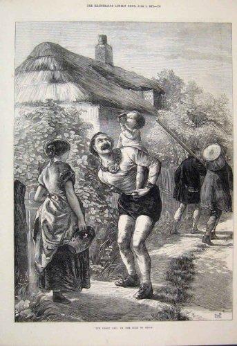 1872 di Arti dell'Oggetto D'antiquariato del Bambino della Famiglia della Strada di Epsom di Giorno di Derby