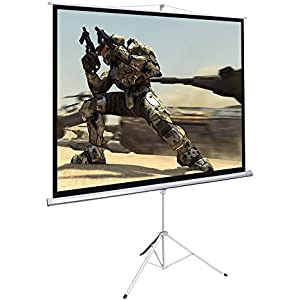 douself 100 Tripod Portable Projection Projector Screen Square 70x70 with Tripod Stand