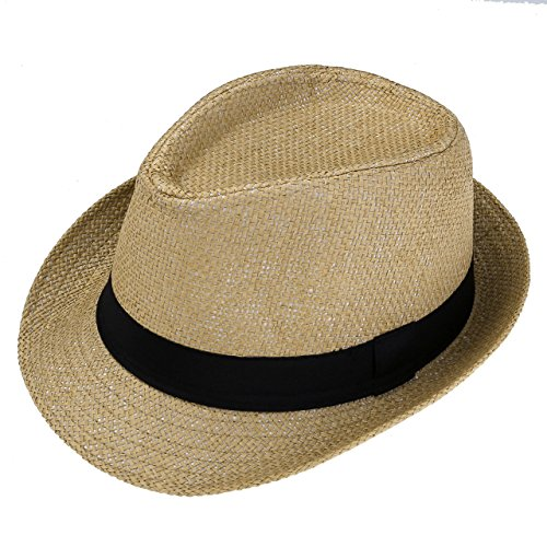 Ayliss® Damen Herren Panamahut Sommerhut Jazz Hut Strohhut...