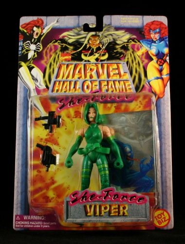 VIPER Marvel Comics Hall Of Fame SHE-FORCE Series 1997 Action Figure and Collector Trading Card