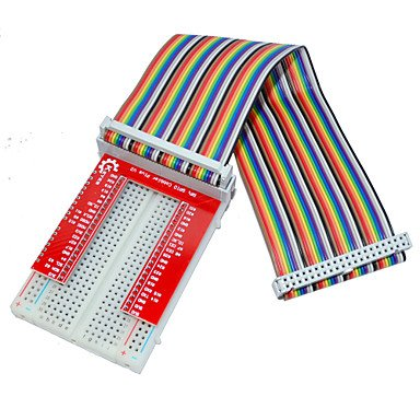 Raspberry Pie 3 GPIO Extended DIY Kit (40P +GPIO V2+400 Rainbow Line Hole Bread Board) (Arduino Raspberry Pie compare prices)