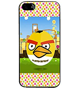 PrintDhaba Angry Bird D-2815 Back Case Cover for APPLE IPHONE 4S (Multi-Coloured)