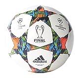 adidas Performance Finale Berlin Capitano Soccer Ball, White/Solar Blue/Flash Green, Size 5