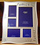 'Family' 5 Picture Multi Silver Photo Frame Gift