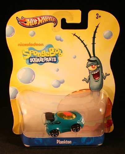 Plankton Hot Wheels Spongebob Squarepants DIE Cast Vehicle Car Nickelodeon Y0761 by Mattel