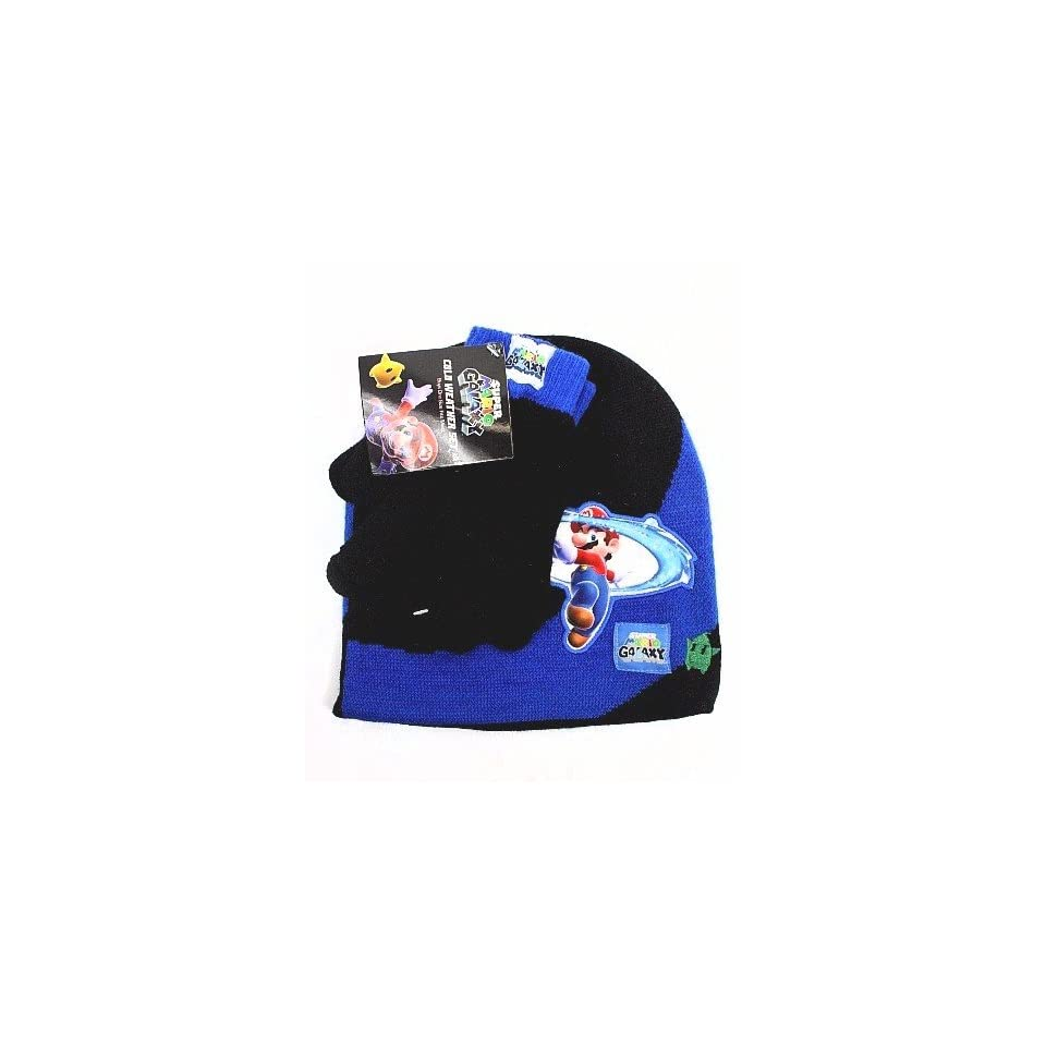b4a3b1cebf476 Super Mario Galaxy Toddler Boys Winter Hats And Gloves Set 2T 4T Toddler  Boys Winter Hats