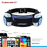 Sports Waist Pack,URPOWER Multifunctional Runner Belt with Water Bottle Holder,Outdoor Running Sports Belt for iPhone 6s/6/5s,Samsung S6 Edge/S6/S5, HTC,Cellphones under 5.5