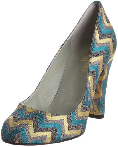 Beyond Skin Women's Kenzi Decorative Heel Turquoise Zig Zag 20110 6 UK