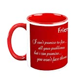 HomeSoGood Friends Are Forever White Ceramic Coffee Mug - 325 Ml