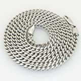 """Gold-Chains Mens 10K white gold franco cuban miami figaro bullet rope fancy chain gc54 Length - 26"""" Width - 4mm"""