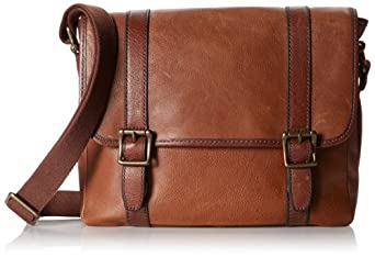 Fossil Estate EW City Bag, Cognac, One Size
