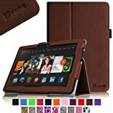 Fintie Slim Fit Leather Cover Folio Case Cover for 8.9 inch Amazon Kindle Fire HDX - Brown