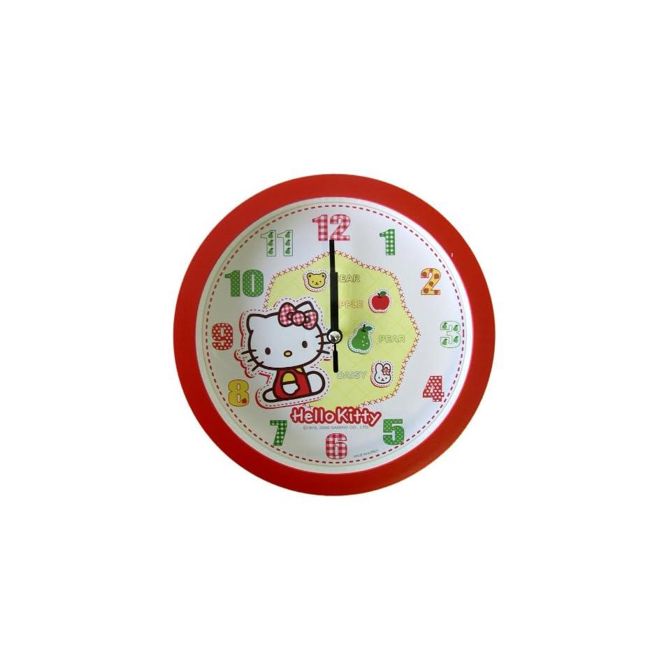 Round Wall Clock   Sanrio Hello Kitty Red Wall Clock