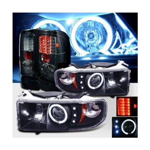 IPCW CWS-568C2 Ford F150//F250 LD Chrome Projector Head Lamp with Rings Pair