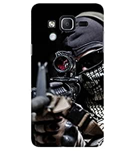 Evaluze gunman Printed Back Cover for SAMSUNG GALAXY ON7 PRO 2016