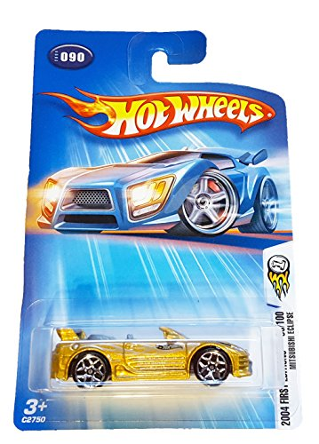 Hot Wheels 2004 First Editions Mitsubishi Eclipse 90/100 GOLD 090 1:64 Scale - 1