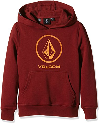 Volcom Tonestone Po Fleece-Felpa Bambino    rosso  Red (Port) 14 Years (Manufacturer Size:X-Large)
