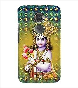 ColourCraft Lord Krishna Back Case Cover for MOTOROLA MOTO X2