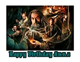 The Hobbit Edible Image Photo Sugar Frosting Icing Cake Topper Sheet Personalized Custom Customized Birthday Party - 1/4 Sheet - 76260