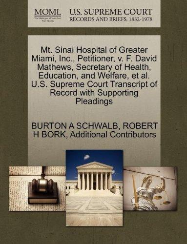 MT SINAI HOSPITAL MIAMI : HOSPITAL MIAMI - ALBERT EINSTEIN