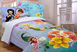 Disney Fairies Fantasy Floral Twin/Full Comforter