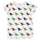 Mademoiselle papillon レディース Tシャツ 半袖 セキセイインコ 【ホワイト:1(M)】