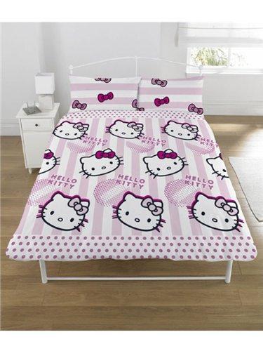 parure housse de couette linge de lit double 2 personnes hello kitty 200 x 200 ameublement. Black Bedroom Furniture Sets. Home Design Ideas