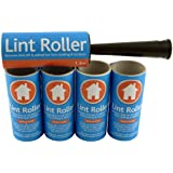Brand New - LINT ROLLER + 5 STICKY REPLACEMENT HEADS - Easy to Use Lint Roller - Pet Hair & Fluff Remover - Simply Removes the Dust / Dirt & Animal Hairs from Clothing & Furniture