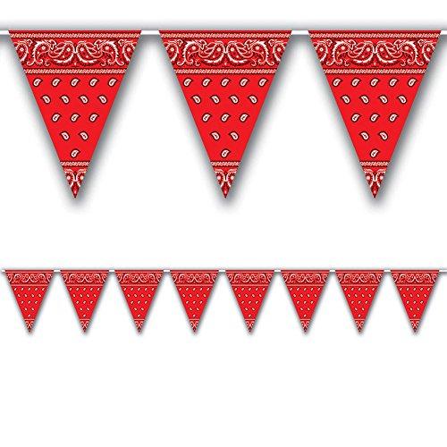 12' Western Bandana Pennant Banner