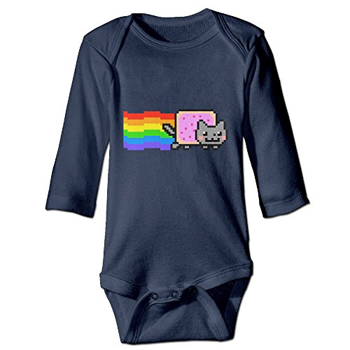 LALayton Nyan Cat Rainbow Png Lovely For Baby Climbing Long Sleeved Clothing Navy (Nyan Cat Merchandise compare prices)