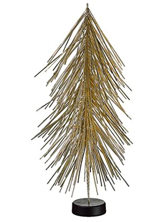 Tube Confetti Gold Christmas Table Top Tree Pack of 6 Trees by Silk Decor