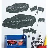 Wallies Room Décor Sticker Fast Car Mural