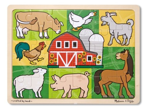 Melissa & Doug Patchwork Farm Animal Jigsaw Puzzle 24pc - 1