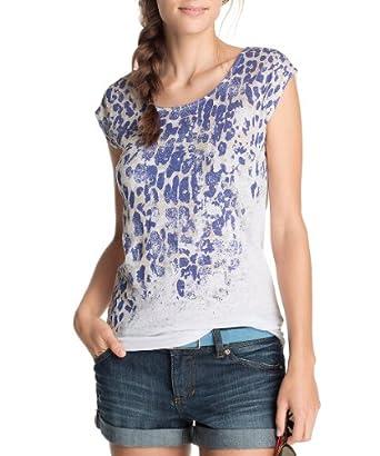 ESPRIT Collection Damen T-Shirt, All over Druck Q23723, Gr. 34 (XS), Blau (422 Umbria Blue)