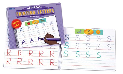 Printing Uppercase Letters Dry-Erase Book - 1