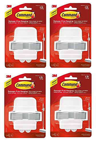 Command Broom Gripper, White with Grey Band (Broom Grey compare prices)