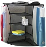 Safco Products Onyx Mesh Desk Corner Organizer, Black1 (3261BL)