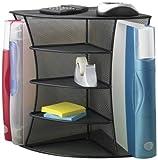 Safco Products 3261BL Onyx Mesh Desktop Corner Organizer, Black (Office Product)