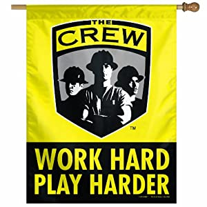 MLS Columbus Crew 27-by-37 Inch Vertical Flag Work Hard by WinCraft