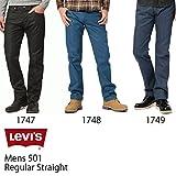 リーバイス 501 2013モデル 00501-1747/ブラックリンス (W33(ウェスト83、股上30、ヒップ101、股下81、裾幅20)cm)